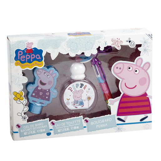 PEPPA PIG lote colonia 50 ml + gel 50 ml + boli multicolor estuche 1 ud