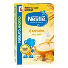 NESTLE papilla 8 cereales con miel caja 900 gr