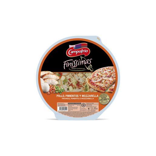 CAMPOFRÍO Finissimas pizza pollo, pimientos y queso envase 295 gr