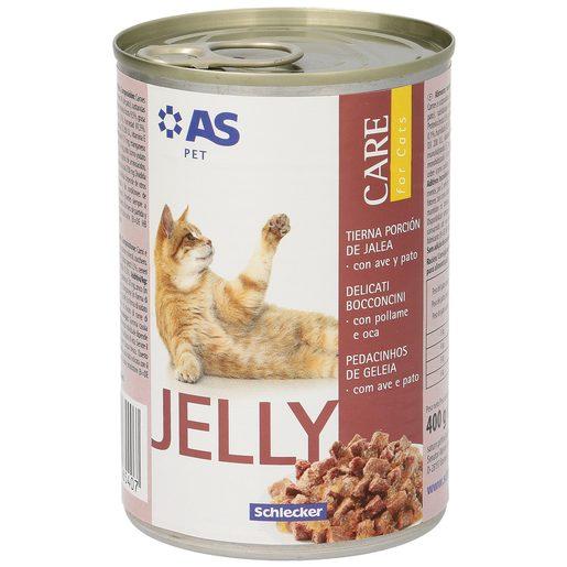 AS alimento para gatos en gelatina ave/pato lata 400 gr