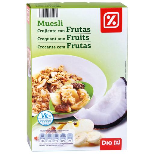 DIA cereales muesli crujiente con frutas paquete 500 gr