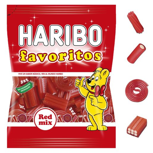 HARIBO golosinas surtidas favoritos regaliz bolsa 270 gr