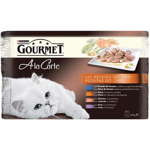 GOURMET GOLD alimento para gatos pescado del oceano lata 4x85 gr
