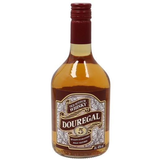 DOUREGAL whisky escocés 5 años botella 70 cl