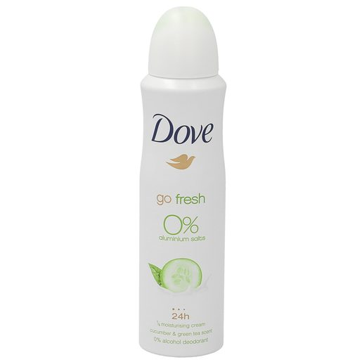 DOVE desodorante go fresh cucumber & green tea scent spray 150 ml