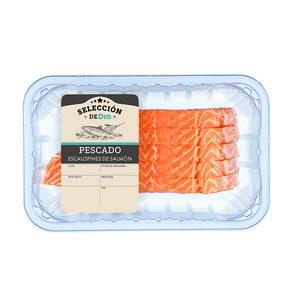 SELECCIÓN DE DIA escalopines de salmón bandeja (peso aprox. 400 gr)