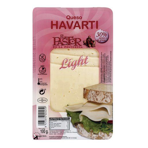 EL PASTOR DE LA POLVOROSA queso havarti light lonchas sobre 100 gr