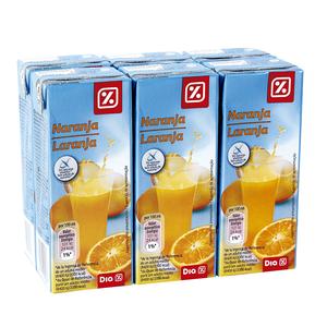 DIA néctar light naranja pack 6 unidades 200 ml