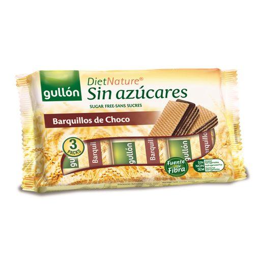 GULLON Diet Nature barquillo de chocolate sin azúcar paquete 210 grs