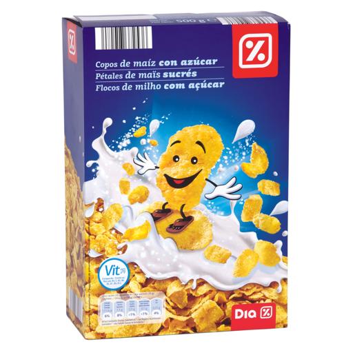 DIA cereales de copos de maiz con azúcar paquete 500 gr