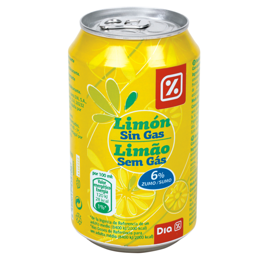 DIA refresco sin gas limón lata 33 cl