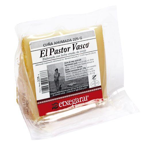 EL PASTOR VASCO queso de oveja ahumado cuña 225 gr