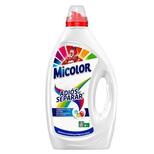 MICOLOR detergente máquina líquido adiós al separar botella 31 lv