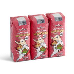 DIA ZUMOSFERA bebida de fruta con leche melón y sandía pack 3 unidades 330 ml