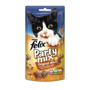 FELIX snack para gatos party mix original bolsa 60 gr