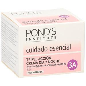 PONDS crema facial triple acción 3A antiarrugas/manchas/flacidez tarro 50ml