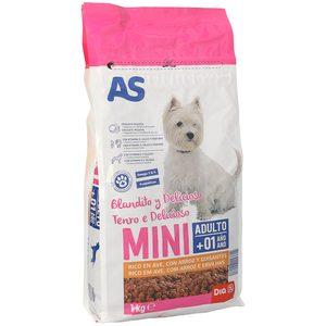 AS alimento para perros mini rico en ave con arroz y guisantes bolsa 1 Kg