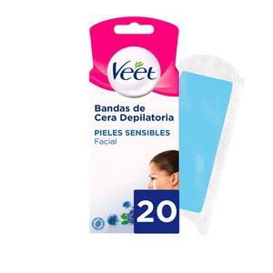VEET Easy gelwax bandas de cera depilatoria facial caja 20 uds