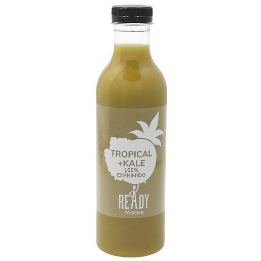 Zumo tropical + kale botella 750 ml