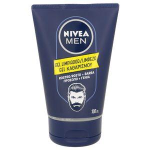NIVEA Men gel limpiador rostro y barba tubo 100 ml