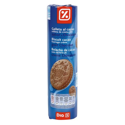 DIA galleta al cacao rellena chocolate paquete 500 gr
