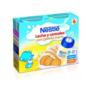 NESTLE papilla líquida 8 cereales con galleta y leche continuación 2x250 ml