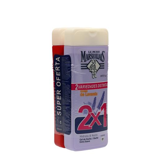 LE PETIT MARSEILLAIS gel de ducha lavanda y amapola pack 2 x 400 ml