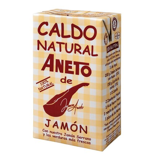 ANETO caldo natural de jamón envase 1 lt