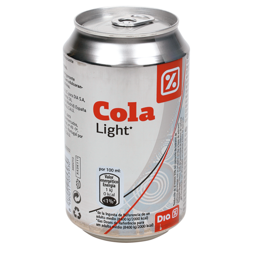 DIA refresco de cola light lata 33 cl