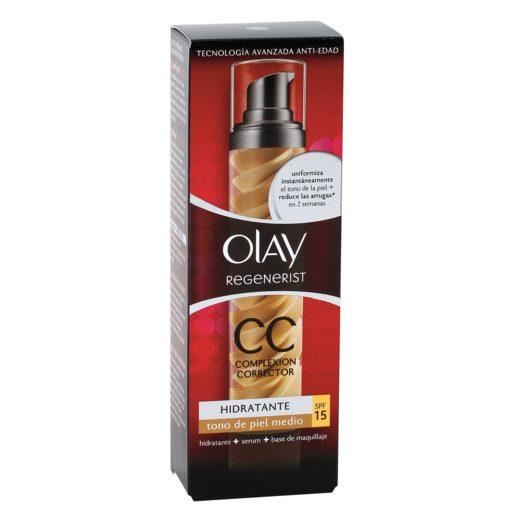OLAY Regenerist CC cream hidratante reduce arrugas tono medio caja 50 ml