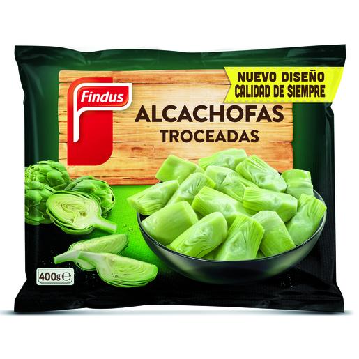 FINDUS alcachofas troceadas bolsa 400 gr