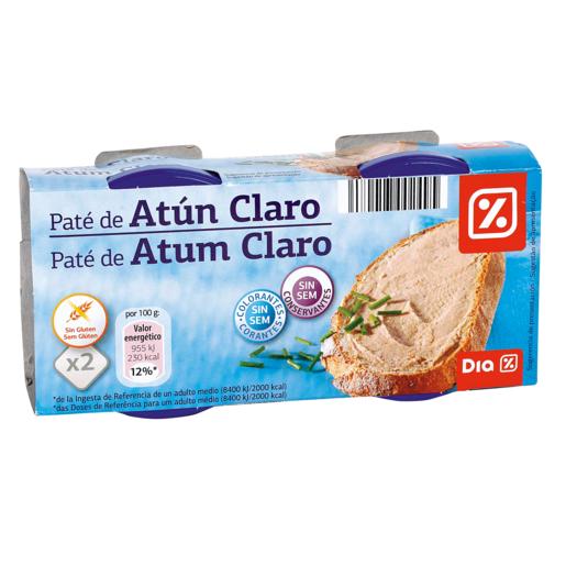 DIA paté de atún claro pack 2 latas 80 gr