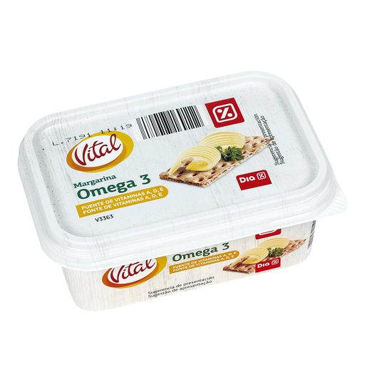 DIA VITAL margarina omega 3 barqueta 250 gr