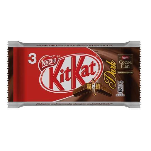 KIT KAT chocolatina chocolate negro pack 3 unidades 45 gr