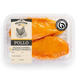 SELECCIÓN DE DIA pechugas enteras de pollo amarillo bandeja (peso aprox. 850 gr)