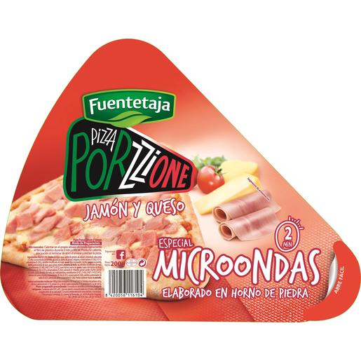 FUENTETAJA Porzzione pizza jamón y queso envase 200 gr