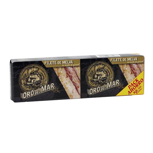 ORO DEL MAR filete de melva en aceite de girasol pack 2 latas 57 gr