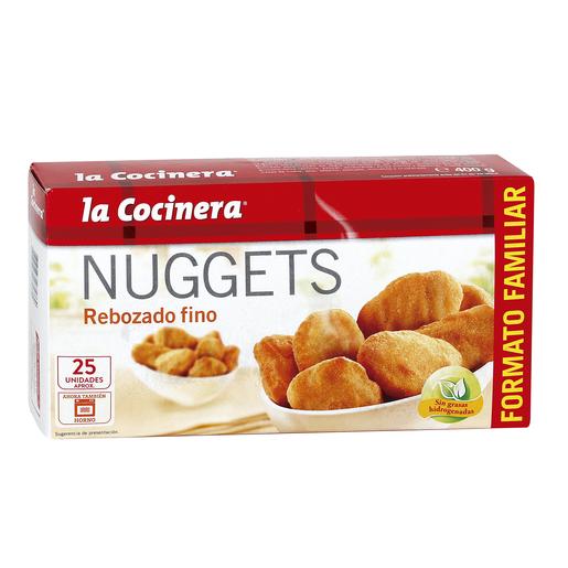 LA COCINERA nuggets rebozado fino caja 400 gr