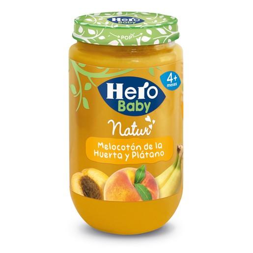 HERO Baby melocotón de la huerta y plátano tarrito 235 gr