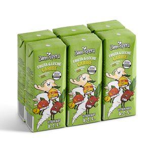 DIA ZUMOSFERA bebida de frutas con leche caribe pack 6 unidades 200 ml