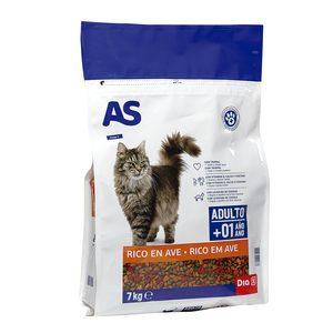 AS alimento para gatos multicomponente carne bolsa 7 Kg