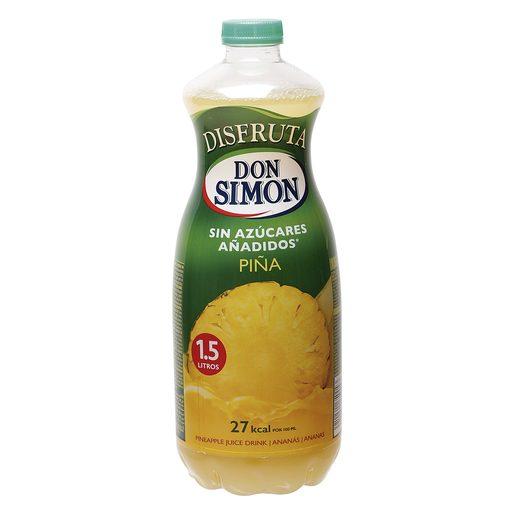 DISFRUTA DON SIMON nectar sin azúcar piña botella 1.5 lt