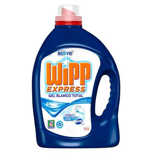 WIPP EXPRESS detergente máquina líquido gel blanco total botella 29 lv