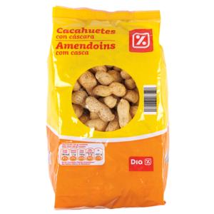 DIA cacahuete con cáscara bolsa 400 gr