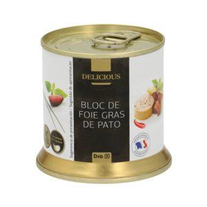 DIA DELICIOUS bloc de foie gras de pato lata 200 gr