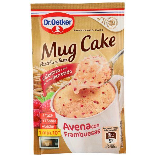 DR. OETKER mug cake avena con frambuesas estuche 64 gr