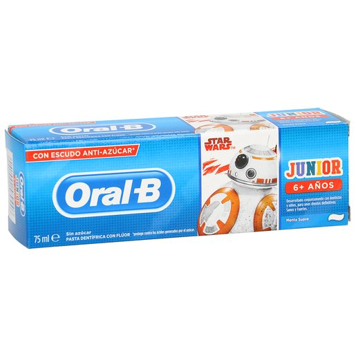 ORAL B Kids pasta dentífrica star wars suave +6 años tubo 75 ml