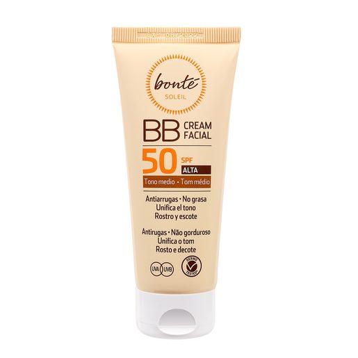BONTE BB crema protectora solar facial spf 50 tono medio tubo 75 ml