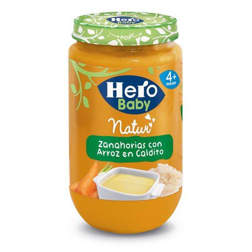 HERO Baby zanahorías con arroz en caldito tarrito 235 gr