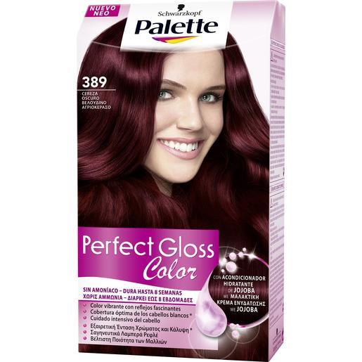 PALETTE PERFECT GLOSS tinte Cereza Oscuro Nº 389 caja 1 ud